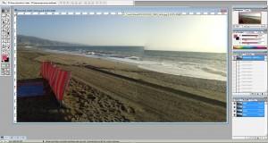 Panorama-Bild vor der Korrektur in Photo-Shop