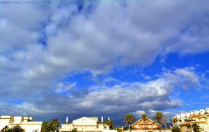 Wolken am Playa las Salinas – Spain