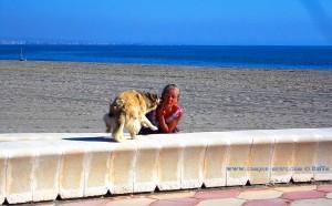 Hier Nicol - hier Küsschen geben - Playa las Salinas Spain