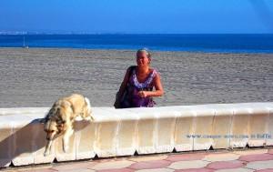 Nicol freut sich immer wie verrückt, wenn ich vom Strand zurück komme - Playa las Salinas – Spain