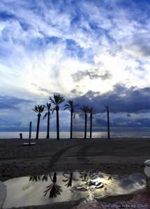 Hochformat-Panorama-Bild Playa las Salinas – Spain