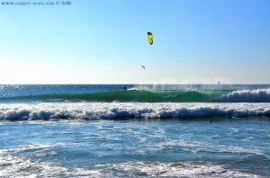Dance on the Waves - Kiter at Playa de los Lances Norte - Tarifa – Spain