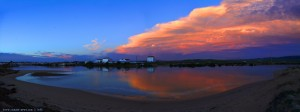 Abendstimmung am Rio Barbate – Spain → Horizontal-Panorama-Bild