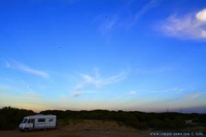 Parking in Dunas de El Portil - A-5052, 21100 Punta Umbría, Huelva, Spanien – December 2016