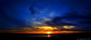 Sunset at Dunas de El Portil – Spain – Horizontal-Panorama-Bild