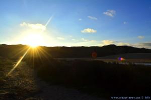 Die Sonne verabschiedet sich gleich - Praia da Bordeira – Portugal