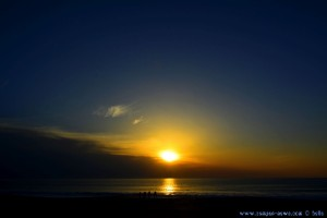 Sunset at Praia da Lagoa de Albufeira – Portugal