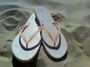 Das sind übrigens die Neuen Flip Flops! Costa de Lavos - Portugal