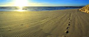 Meine Spuren im Sand in Costa de Lavos – Portugal *träller*