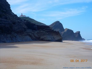 Faro Novo at Praia da Murtinheira – Portugal