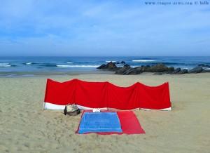 Mein Platz wartet schon am Praia de Afife - Portugal