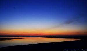 Sunset at Praia de Afife – mit Sichelmond – Portugal