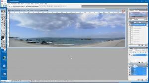 Panorama-Bild vor der Korrektur mit PhotoShop