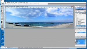 Panorama-Bild nach der Korrektur mit PhotoShop