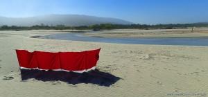 My View today Río Cabanas at Praia de Afife – Portugal