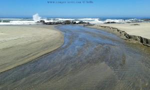 Río Cabanas at Praia de Afife – Portugal