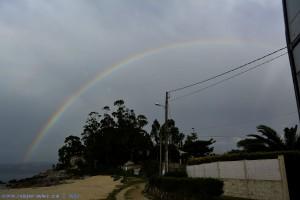 Rainbow at Playa de Mourisca – Spain
