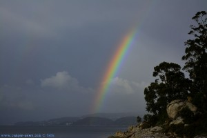 Rainbow at Playa de Mourisca – Spain