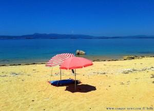 Der Schattenplatz ist fertig - Playa las Pipas – Spain