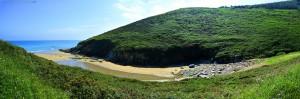My View today - Praia O Riás – Spain – 12:00:00 ← EXAKT um 12 Uhr aufgenommen – keine Sekunde später!