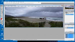 Panorama-Bild vor der Korrektur