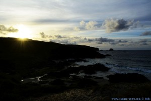 Sunset at Praia de Santa Comba – Spain