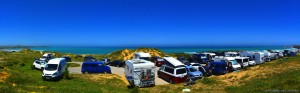 Parking at Playa de Valdearenas - 39470 Piélagos - Santander - Cantabria – Spain – June 2017