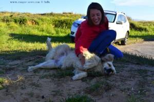 Lila Rose mit Nicol am Playa de Valdearenas – Spain
