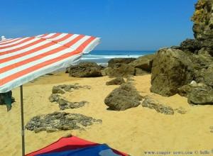 Mein Strandplatz an der kleinen Bucht neben Playa de Valdearenas – Spain