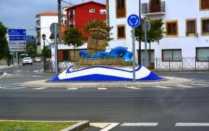 Interessanter Kreisverkehr in Colindres - Spain