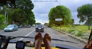 My View today - Füsse hoch legen muss mal sein - on the Road in France