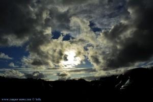 Interessanter Himmel am Plage D'Ondres - France