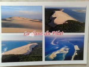 Eine der vier verschiedenen Postkarten, die wir kaufen heute von der Dune du Pílat – France