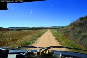 Stellplatzsuche - Kilometerweite Waschbrett-Pisten in Spain