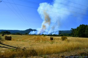 My View today - Fire and Smoke on the Road – Spain