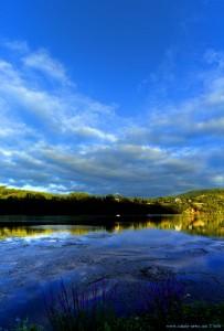 Vertikal-Panorama-Bild - Río Miño - Barbantes – Spain