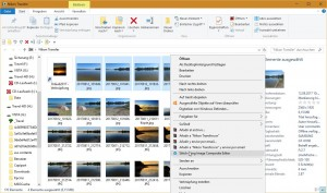 Bilder auswählen und an Image Composite Editor senden (ist im Kontext-Menü nach der Installation)