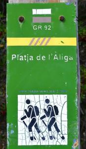 Viele Wanderwege vom Platja de l'Aliga - Spain