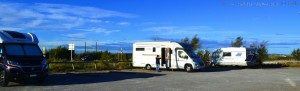 Parking in Camper Area Les trois Digues - Sète - France - Unnamed Road, 34200 Sète, Frankreich – October 2017