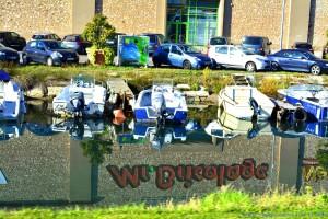 Interessante Spiegelung im Canal in Sète – France