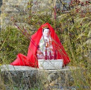 Kleine Madonna am Castell de Sant Ferran - Spain