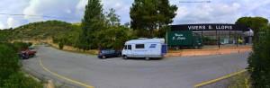 Parking in Area Sosta Camper - Carrer Josep Bascos I Carbonell, 1V, 08870 Sitges - Barcelona - Spanien - November 2017