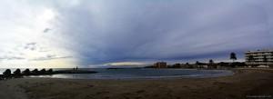 Parking at Cunit Playa - Passeig Marítim, 109, 43881 Cunit, Tarragona, Spanien – November 2017