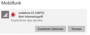 Vodafone ES - Kein Internetzugriff - auch heute Nachmittag wieder!