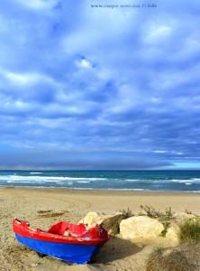 Vertikal-Panorama-Bild - Platja Les Deveses – Spain