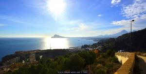 Aussicht beim Tee - bei Calpe – 130 Meter über dem Meeresspiegel – Spain