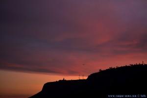 Gleitflieger im Abendrot am Platja del Carabassí - Santa Pola – Spain