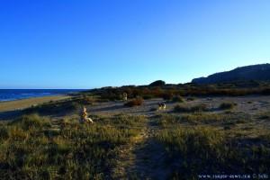 Nicol und die Steintürme am Playa de Los Arenales del Sol – Spain