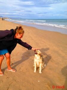 Mit Heidi am Platja L'Almadrava – Spain