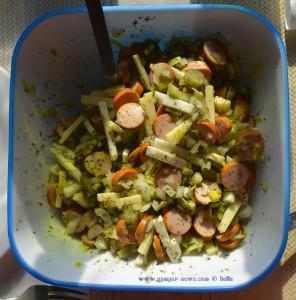Schweizer Wurstsalat zum Lunch - Platja del Carabassí - Santa Pola - Spain